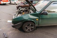 Het ongeval van de weg Royalty-vrije Stock Fotografie