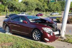 Het ongeval van het autoverkeer Stock Foto