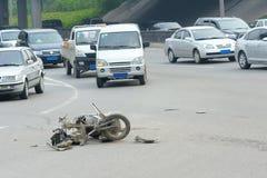 Het ongeval van het verkeer Stock Afbeeldingen