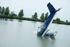 Het ongeval van het vliegtuig Stock Afbeeldingen