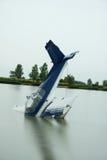 Het ongeval van het vliegtuig Royalty-vrije Stock Foto's