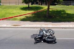 Het Ongeval van Motocycle Royalty-vrije Stock Afbeelding