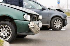 Het ongevallenneerstorting van de auto Royalty-vrije Stock Foto's