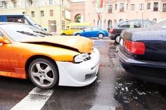 Het ongevallenneerstorting van de auto van het achtergedeelte Royalty-vrije Stock Foto's