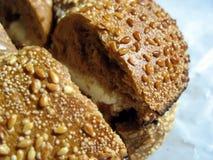 Het ongezuurde broodje van de sesam Royalty-vrije Stock Afbeelding