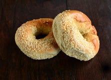 Het ongezuurde broodje van het sesamzaad Royalty-vrije Stock Afbeelding