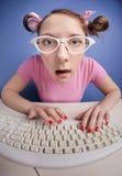 Het online babbelen Royalty-vrije Stock Fotografie