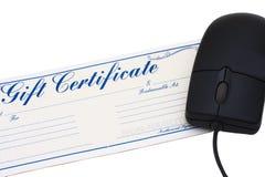 Het online Certificaat van de Gift Stock Afbeeldingen