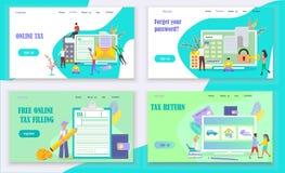 Het online concept van de belastingsbetaling vector illustratie