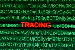 Het online concept van de handel Stock Fotografie