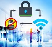 Het online Concept van de het Voorzien van een netwerkprivacy van de Veiligheidsbescherming Royalty-vrije Stock Afbeelding