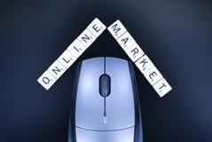 Het online Concept van de Markt Royalty-vrije Stock Foto
