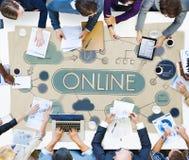 Het online Concept van het de Communicatie Verbindingsvoorzien van een netwerk van Internet Royalty-vrije Stock Foto
