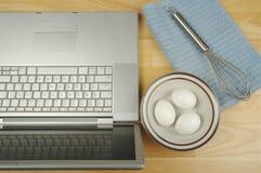 Het online Culinaire Concept van Info stock afbeelding