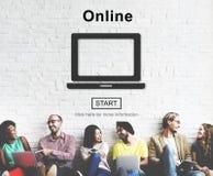 Het online Digitale Internet-Concept van de Verbindingshomepage Stock Foto's