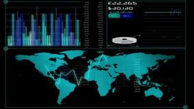 Het online globale bedrijfsscherm stock footage