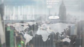 Het online globale bedrijfsscherm royalty-vrije illustratie