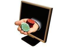Het online gokken Stock Fotografie