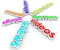 Het online Internet-Inhoud Marketing Geval Studie van Bloggen Witboeken vector illustratie
