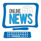 Het online Nieuwsscherm Stock Afbeeldingen