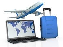 Het online reis boeken stock illustratie