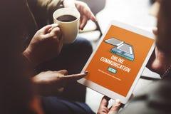 Het online van de Communicatie Concept Verbindingsinformatie Royalty-vrije Stock Fotografie