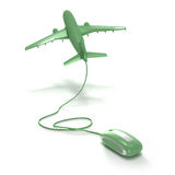 Het online vlucht groen boeken Royalty-vrije Stock Afbeeldingen