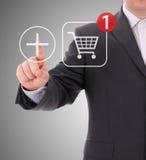 Het online winkelen Stock Foto