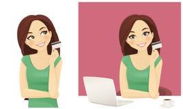 Het online winkelen Stock Afbeeldingen