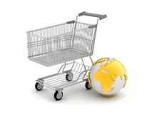 Het online winkelen - conceptenillustratie Royalty-vrije Stock Foto's