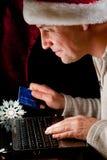 Het Online winkelen van de vakantie Stock Afbeeldingen