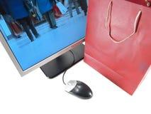 Het Online Winkelen van Internet stock afbeelding