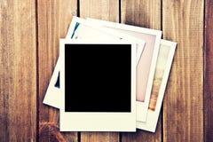 Het onmiddellijke lege kader van polaroidfoto's Royalty-vrije Stock Afbeeldingen