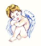 Het onschuldige engel dromen Royalty-vrije Stock Foto's