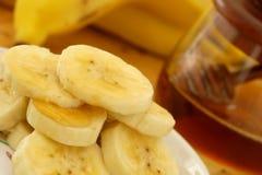 Het ontbijt van bananen royalty-vrije stock afbeeldingen