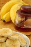 Het ontbijt van de banaan comopsiton royalty-vrije stock foto's