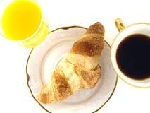 Het Ontbijt van de croissant Stock Foto