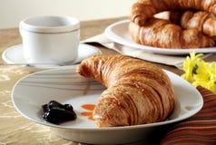 Het Ontbijt van de croissant Stock Afbeeldingen