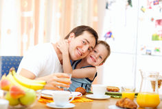 Het ontbijt van de familie Royalty-vrije Stock Foto's