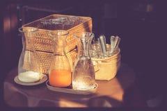 Het ontbijt van de glasdrank Stock Afbeeldingen