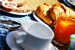 Het ontbijt van de koffie Royalty-vrije Stock Afbeeldingen