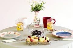 Het ontbijt van de lijst, ontbijt Stock Afbeelding