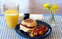 Het Ontbijt van de Muffin van het ei Royalty-vrije Stock Afbeelding