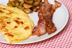 Het ontbijt van de omelet Royalty-vrije Stock Afbeeldingen
