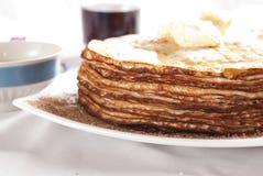 Het ontbijt van de pannekoek Royalty-vrije Stock Afbeeldingen