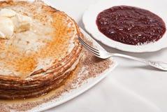 Het ontbijt van de pannekoek Royalty-vrije Stock Foto's