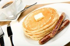 Het Ontbijt van de pannekoek Stock Afbeeldingen