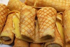Het ontbijt van de pannekoek Stock Foto