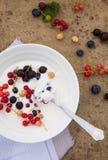 Het ontbijt van de yoghurt Royalty-vrije Stock Afbeelding