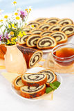 Het ontbijt van het het zaadbroodje van de papaver Royalty-vrije Stock Foto's
